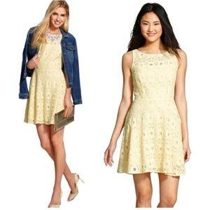 B Dakota yellow eyelet fit flare dress 2